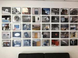 security camera showroom